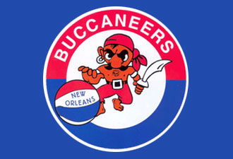 New Orleans Buccaneers HARDWOOD ABA Hats