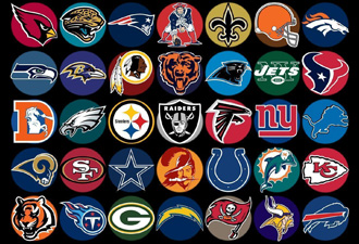 NFL ALL OVER Fitted Hats