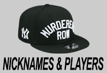 Yankees Nicknames and Players Hats
