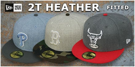 2T-Heather Fitted Hats