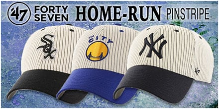 Home-Run Pinstripe Hats