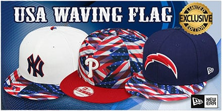 Exclusive USA Waving Flag Hats