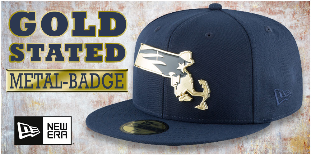 Gold Stated Metal-Badge Hats