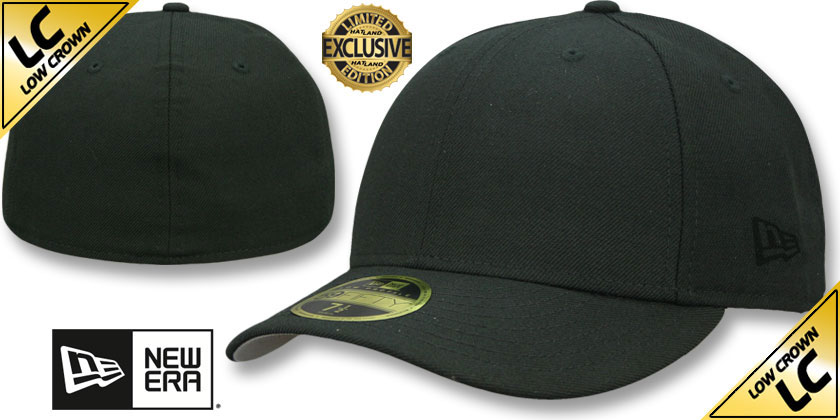 New Era TONAL LOW-CROWN 59FIFTY-BLANK Black Fitted Hat
