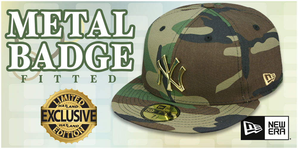 Metal Badge Fitted Hats