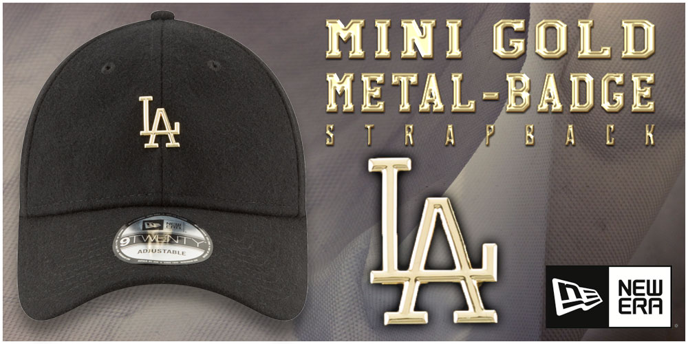Mini Gold Metal-Badge Strapback Hats