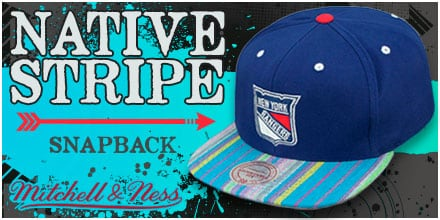 Native Stripe Snapback Hats