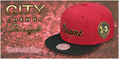 City Champs Script Snapback Hats