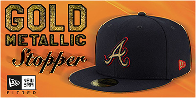 Gold Metallic Stopper Hats