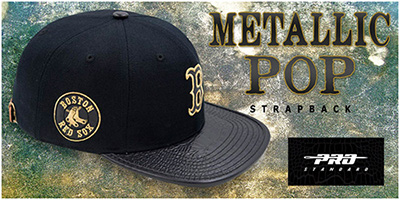 Metallic Pop Strapback Hats