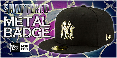 Shattered Metal-Badge Hats
