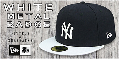 White Metal-Badge Hats
