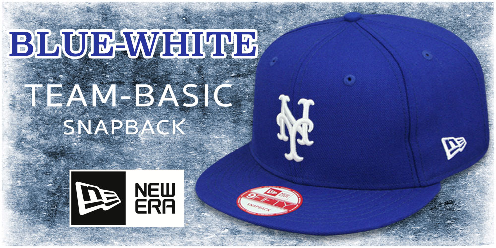 Royal-White Team-Basic Snapback Hats