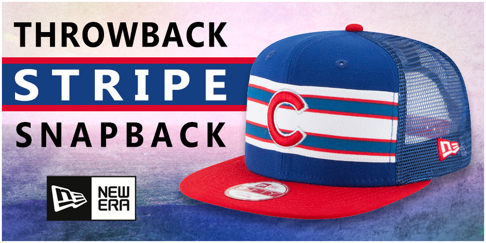 Throwback-Stripe Snapback Hats