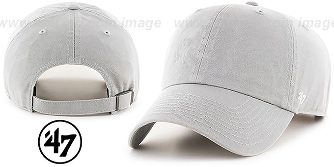 47 'BLANK CLASSIC STRAPBACK' Light Grey Adjustable Hat