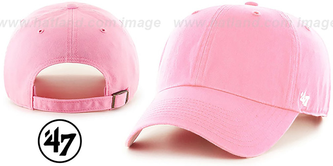 47  BLANK CLASSIC STRAPBACK  Light Pink Adjustable Hat 8f924c498c0