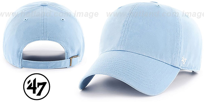 47 'BLANK CLASSIC STRAPBACK' Sky Adjustable Hat : pictured without stickers that these products are shipped with