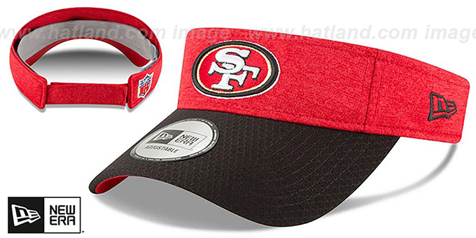 49ers '18 NFL STADIUM' Red-Black Visor by New Era