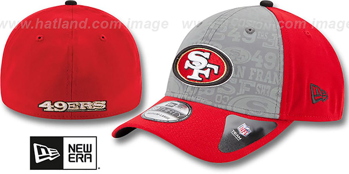 49ers '2014 NFL DRAFT FLEX' Red Hat by New Era : pictured without stickers that these products are shipped with