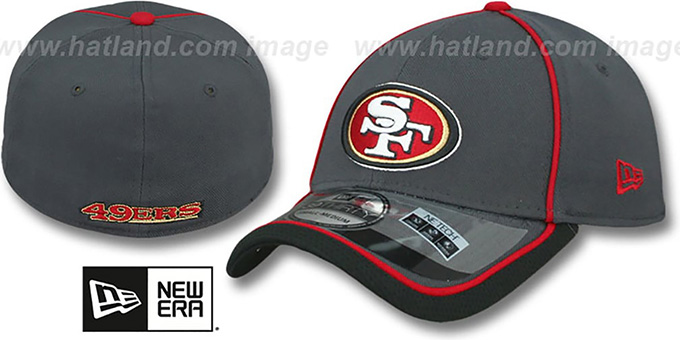 49ers '2014 NFL STADIUM FLEX' Grey Hat by New Era : pictured without stickers that these products are shipped with