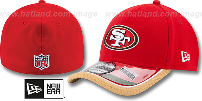 49ers '2014 NFL STADIUM FLEX' Red Hat by New Era : pictured without stickers that these products are shipped with