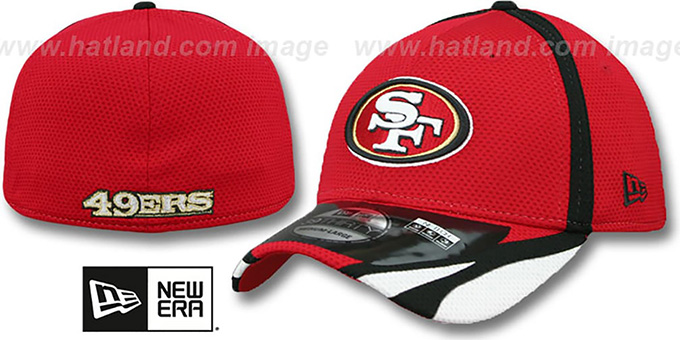 49ers '2014 NFL TRAINING FLEX' Red Hat by New Era : pictured without stickers that these products are shipped with