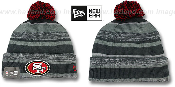 49ers '2014 STADIUM' Grey-Grey Knit Beanie Hat by New Era : pictured without stickers that these products are shipped with