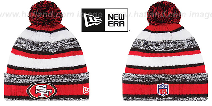 49ers '2014 STADIUM' Knit Beanie Hat by New Era : pictured without stickers that these products are shipped with