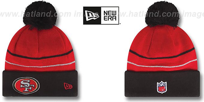 49ers 'THANKSGIVING DAY' Knit Beanie Hat by New Era : pictured without stickers that these products are shipped with