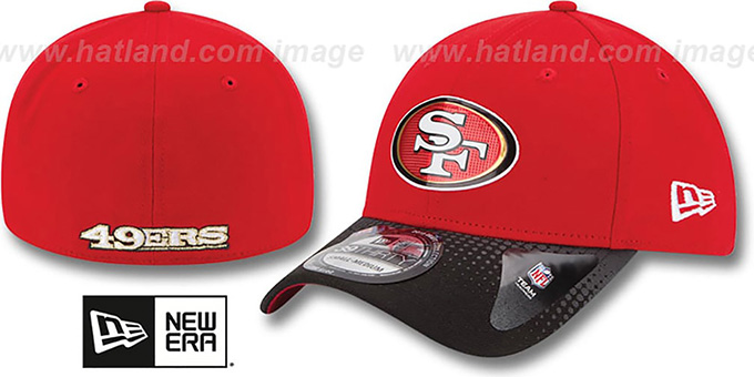 49ers '2015 NFL DRAFT FLEX' Hat by New Era : pictured without stickers that these products are shipped with