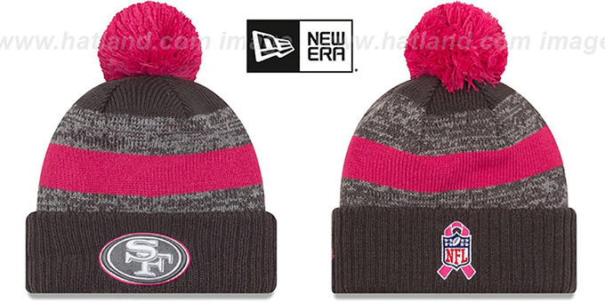 49ers '2016 BCA STADIUM' Knit Beanie Hat by New Era : pictured without stickers that these products are shipped with