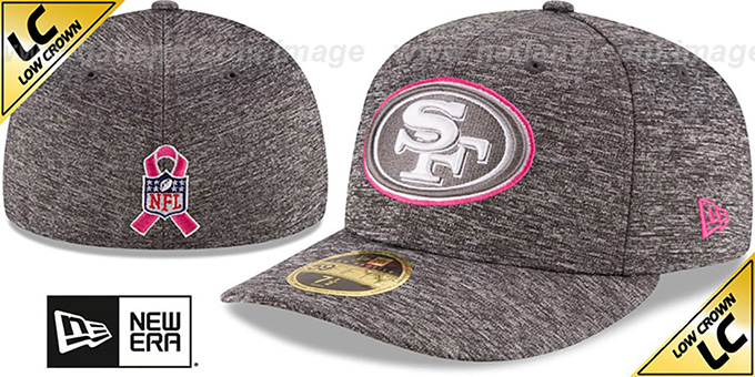 49ers '2016 LOW-CROWN BCA' Grey Fitted Hat by New Era : pictured without stickers that these products are shipped with