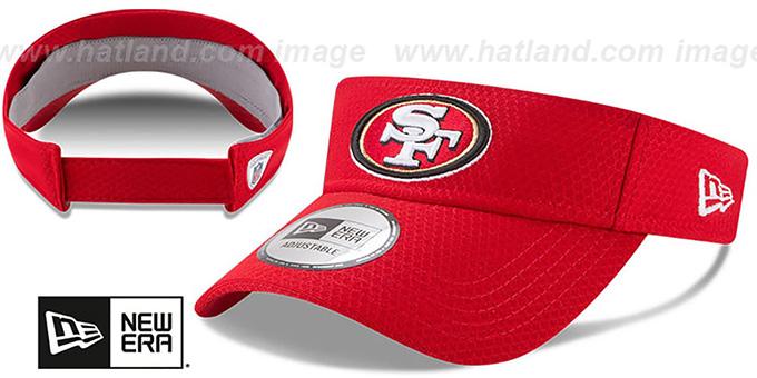 d5ee11742 San Francisco 49ers 2017 NFL TRAINING VISOR Red by New Era