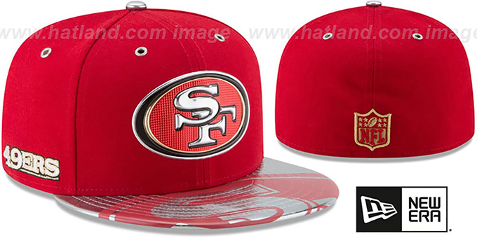 size 40 f848f 473e6 San Francisco 49ers 2017 SPOTLIGHT Fitted Hat by New Era. video available.  49ers  2017 SPOTLIGHT  Fitted Hat by ...
