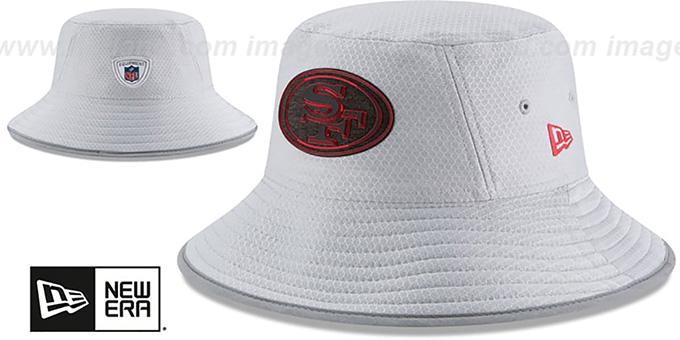d6014327a San Francisco 49ers 2018 NFL TRAINING BUCKET Grey Hat by New Era