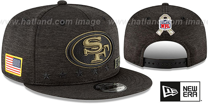 49ers '2020 SALUTE-TO-SERVICE SNAPBACK' ST Black Hat by New Era