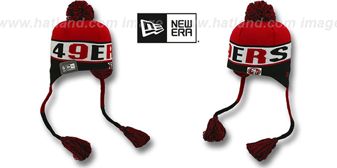 49ers 'CRAYON BOX' Knit Beanie Hat by New Era : pictured without stickers that these products are shipped with