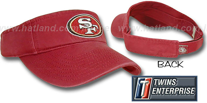 49ers 'G-W VISOR' by Twins - burgundy : pictured without stickers that these products are shipped with