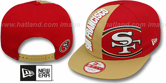 49ers 'NE-NC DOUBLE COVERAGE SNAPBACK' Hat by New Era : pictured without stickers that these products are shipped with