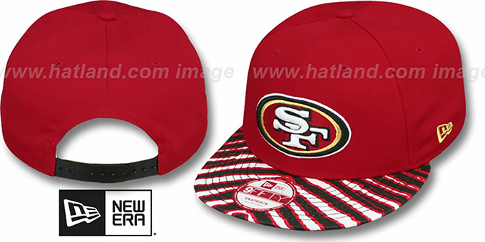 49ers 'NFL ZUBAZ SNAPBACK' Red Hat by New Era : pictured without stickers that these products are shipped with