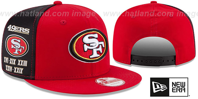 49ers 'PANEL PRIDE SNAPBACK' Hat by New Era : pictured without stickers that these products are shipped with