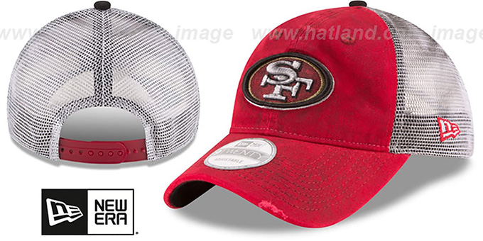 49ers 'RUSTIC TRUCKER SNAPBACK' Hat by New Era : pictured without stickers that these products are shipped with