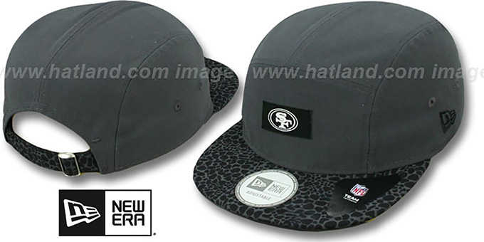 49ers 'SAFARI CAMPER STRAPBACK' Grey Hat by New Era : pictured without stickers that these products are shipped with