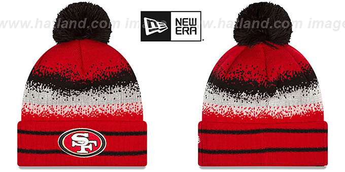 49ers 'SPEC-BLEND' Knit Beanie Hat by New Era : pictured without stickers that these products are shipped with