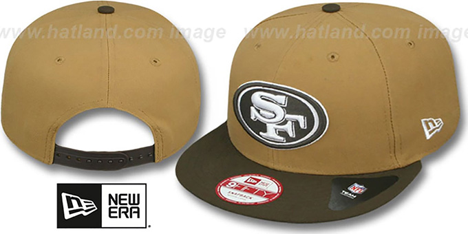 49ers 'TEAM-BASIC SNAPBACK' Wheat-Brown Hat by New Era : pictured without stickers that these products are shipped with
