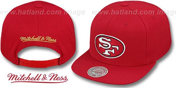 61ea30b6 49ers 'THROWBACK-BASIC SNAPBACK' Red Hat by Mitchell ...