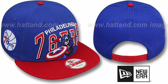 76ers 'CHALK-UP HERO SNAPBACK' Royal-Red Hat by New Era
