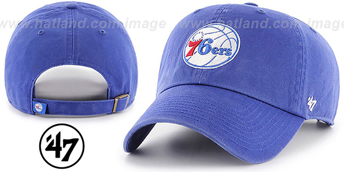 76ers 'CLEAN-UP STRAPBACK' Royal Hat by Twins 47 Brand : pictured without stickers that these products are shipped with