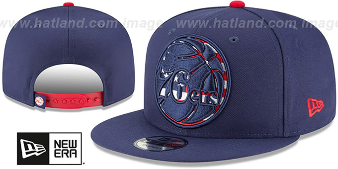 cheap for discount 0e50b 3dc50 76ers  FLAG FILL INSIDER SNAPBACK  Navy Hat by New Era