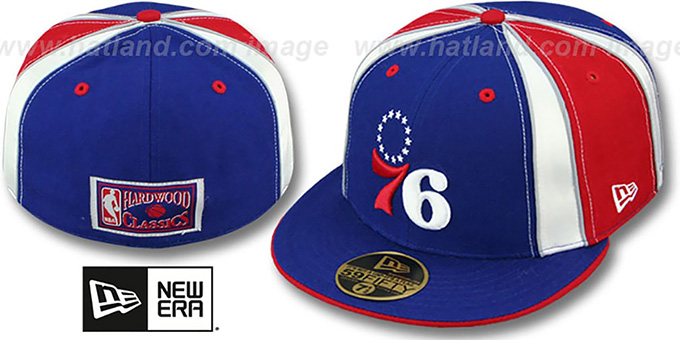 76ers HARDWOOD 'EXPOSED' Fitted Hat by New Era : pictured without stickers that these products are shipped with